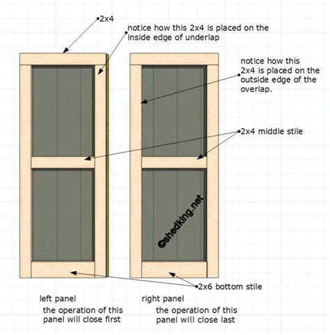 Double Shed Doors How To Build A Exterior Door
