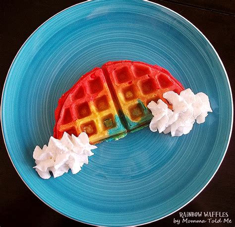 blue colored waffles momma told me somewhere the waffle rainbow waffles