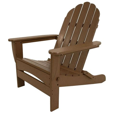 Adirondack Patio Chairs Polywood Classic White Patio Adirondack Chair Pws136 1 Wh The Home Depot