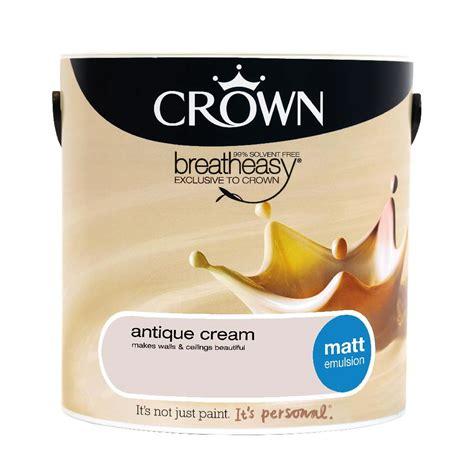 crown matt emulsion paint antique 2 5l at wilko