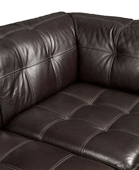 Stacey Leather Sectional Sofa Stacey Leather Sectional Sofa 5 Modular Pit 2 Armless Chairs 2 Square Corners And