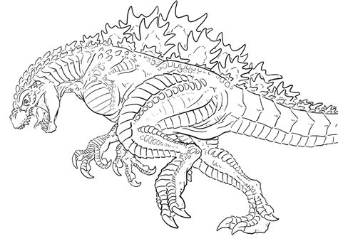 godzilla coloring book godzilla coloring pages free large images