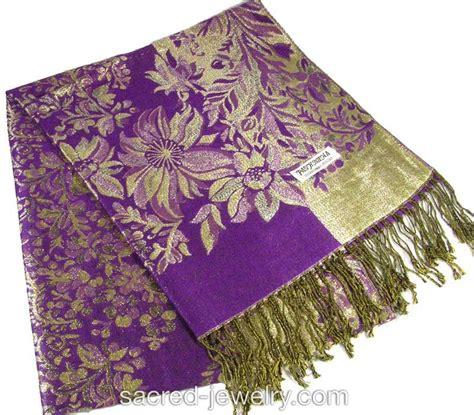 pashmina scarf shawl magenta sacred jewelry