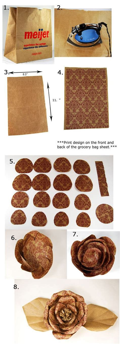 Steps To Make A Paper Bag - steps to a paper bag flower clever handmade gift