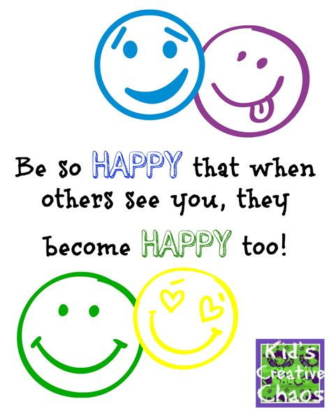 Be Happy: Happiness Quotes and Sayings - Kids Creative Chaos