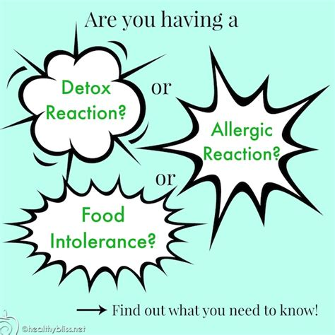 What Do You Call The Detox Reaction symptoms of a detox reaction vs allergic reaction or