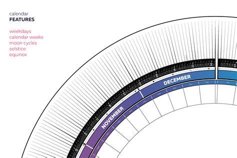 Free Circular Calendar Template