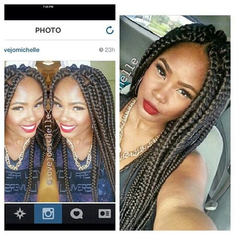 how many packd for jumbo box braids bugabai jumbo box braids crowning glory pinterest