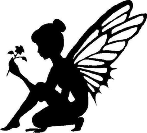 Garden Wall Stickers fairy silhouette with flower vinyl decal sticker car truck