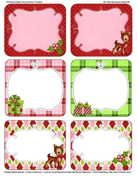 printable sheet of christmas tags deck the holiday s some free printable christmas gift