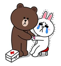 Kaos Line Emoticon Brown 16 ขอตรงๆ ขอร ปการ ต นไปให กำล งใจร นน องหน อยคร บ
