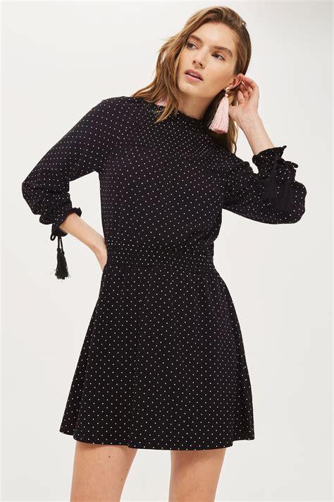 Top Shoo spot shirred waist dress topshop usa