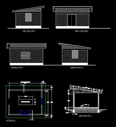 generator shed  autocad  cad   kb