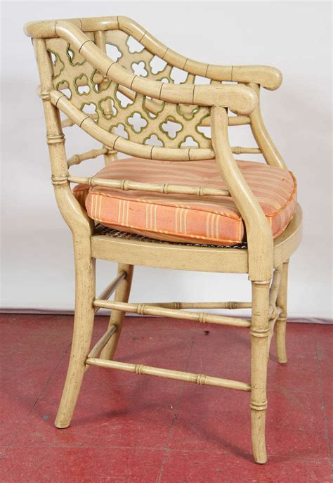 painted faux bamboo furniture regency style faux bamboo painted chairs pair at 1stdibs