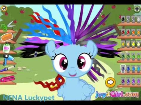 games haircut my little pony play little pony hair salon game video for kids my little