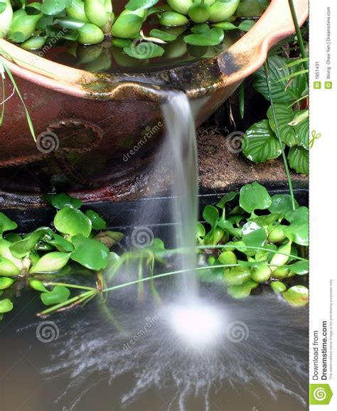 time pottery winter garden fl waterfall pottery garden stock image image of fengshui