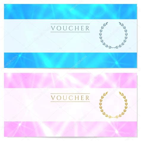 design background voucher gift certificate voucher coupon reward or gift card