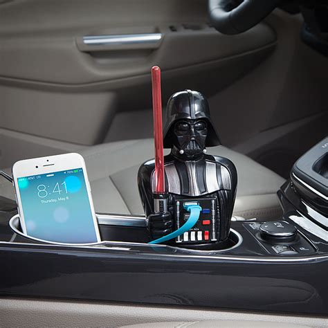 r2d2 car usb charger wars darth vader usb car charger thinkgeek