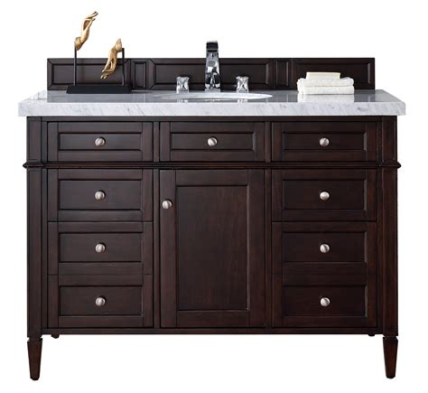Bathroom Vanity No Top Contemporary 48 Inch Single Bathroom Vanity Mahogany Finish No Top