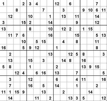 printable sudoku 16x16 numbers sudoku 16x16 puzzles