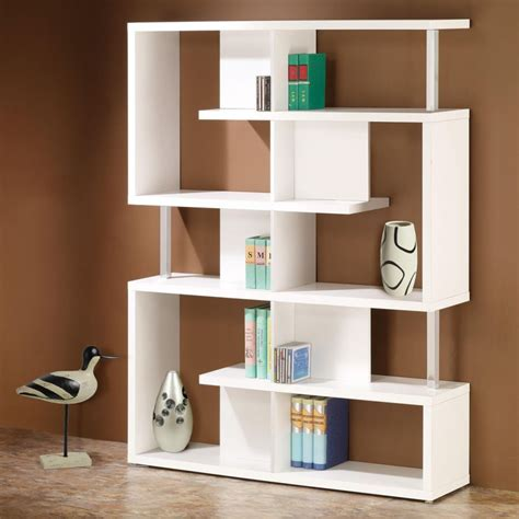 bookcase furniture modern white bookcase white modern