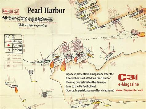 pearl harbor map japanese presentation map 7 december 1941 attack on pearl harbor 171 c3i ops center