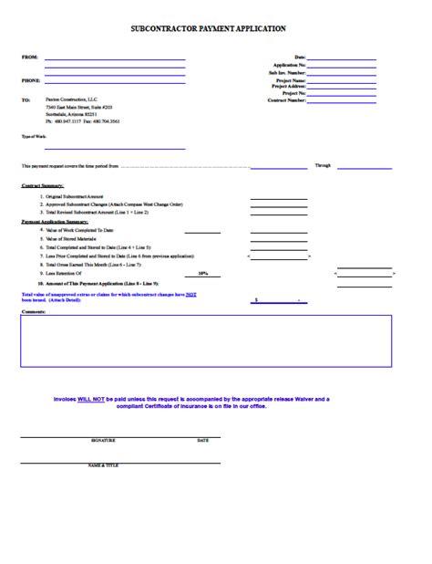 construction employment application template construction payment application template hardhost info