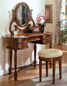 Makeup Vanity Table Set Brown Cherry Makeup Vanity Table Set W Mirror Vanity Tables