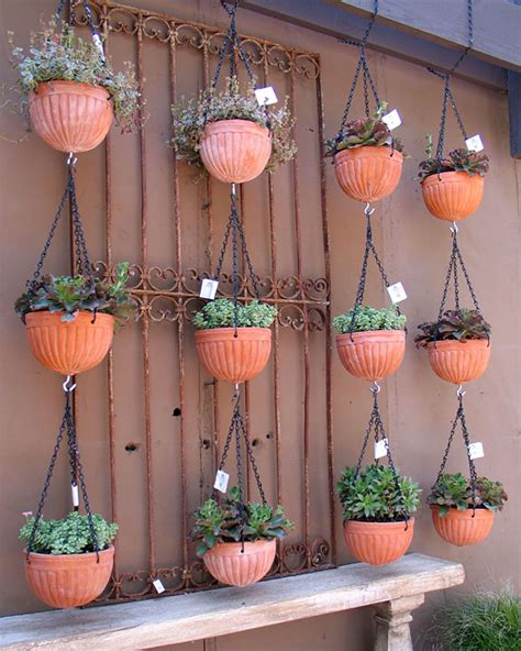 Planters That Hang On The Wall by Hanging Pots The Tiny Life