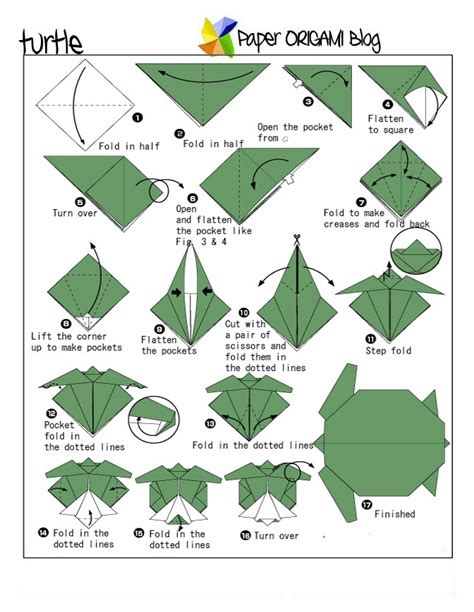 Origami Turtle Diagram - unique origami turtle origami paper origami guide