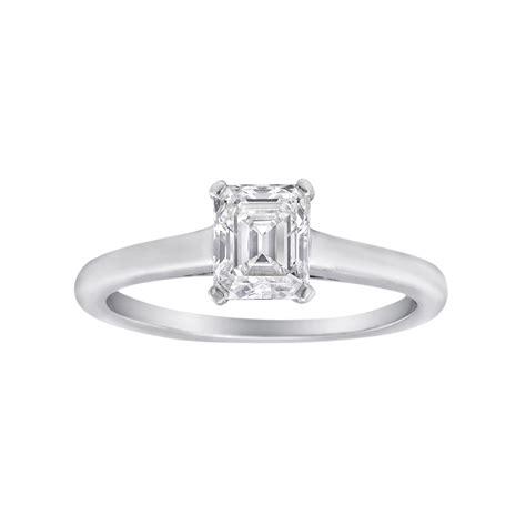 estate co 0 75 carat emerald cut ring
