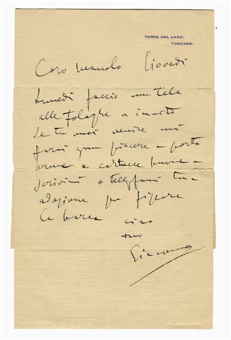 libreria puccini puccini giacomo lettera busta autografa firmata