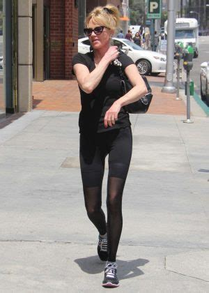 Promo 420 Black Spandex melanie griffith in black spandex out in beverly