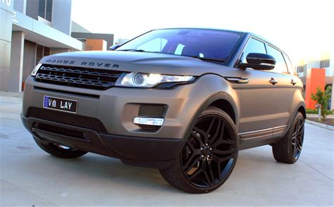wrapped range rover evoque range rover evoque wrapped in 3m matte charcoal metallic