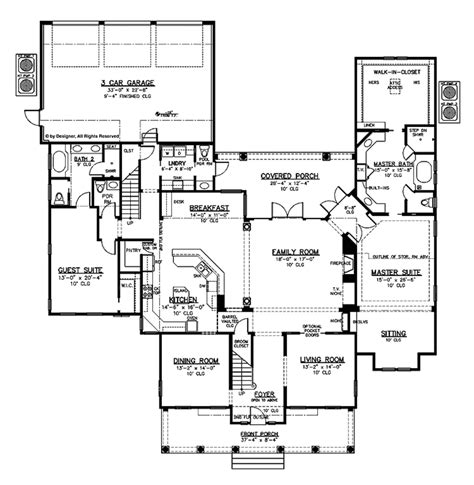 colonial style house plan 6 beds 5 baths 5164 sq ft plan