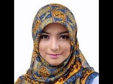 tutorial hijab segi empat citra kirana trend jilbab kantor ala citra kirana simpel youtube