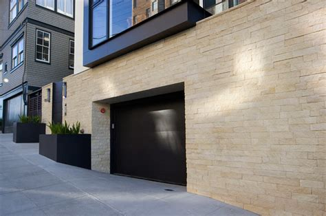 Natural Stone Veneer Contemporary Exterior Houston