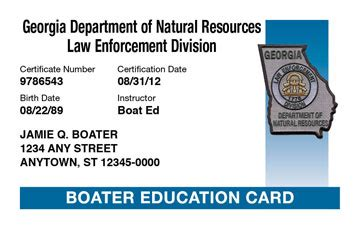 boat registration ga dnr georgia boating license boat safety course boat ed 174