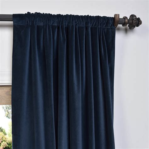Navy Velvet Curtains Buy Navy Vintage Cotton Velvet Curtain Drapes Halfpricedrapes