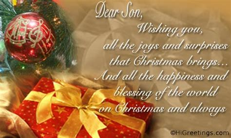 send ecards friends family christmas wishes  dear son