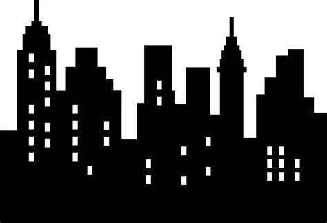 No City Black city clipart black and white pencil and in color city