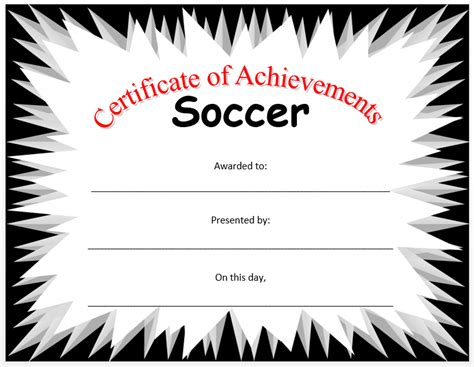 soccer certificate template soccer certificate template professional and high