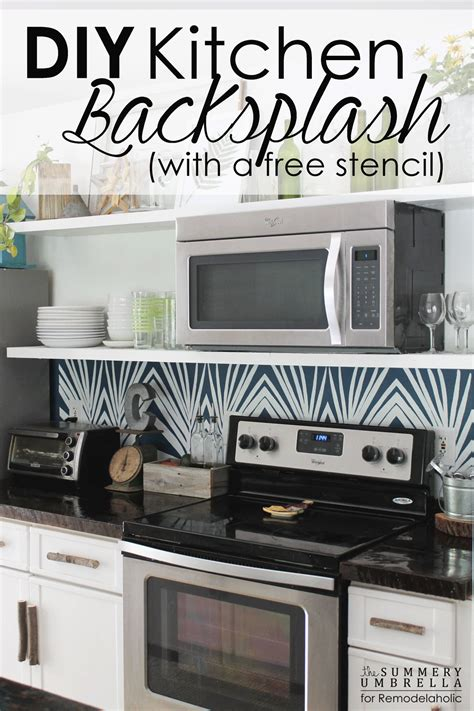 make your own backsplash remodelaholic diy kitchen backsplash stencil
