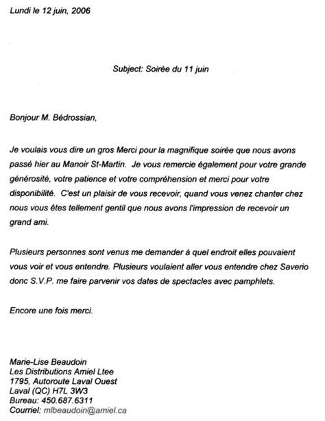 Lettre De Remerciement Officielle Exemple De Lettre De Remerciement Officiel Covering Letter Exle