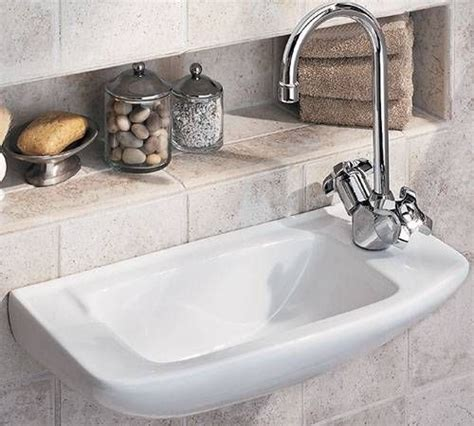 I Like The Recessed Shelf Behind Tiny Sink Perfect Since Sink Shelves Bathroom