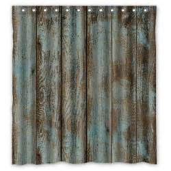 bbj vintage rustic barn wood custom shower curtain 66