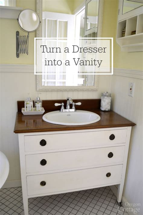 how to make a dresser into a bathroom vanity how to make a dresser into a vanity tutorial