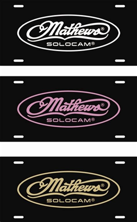 Colors That Go With Pink by Mathews Archery Solocam License Plates Lve Decals
