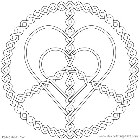 peaceful patterns coloring pages don t eat the paste peace and love coloring page