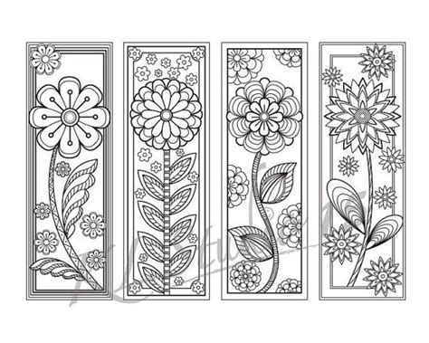 peace colouring bookmarks blooming spring coloring bookmarks page instant download
